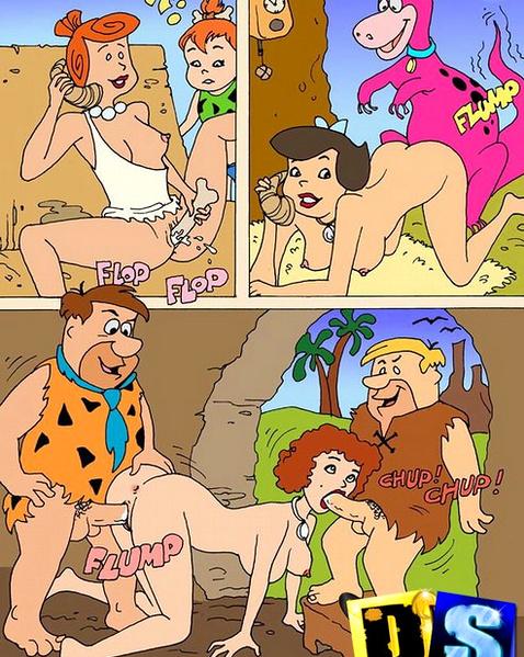 порно семейка флинстоуны
