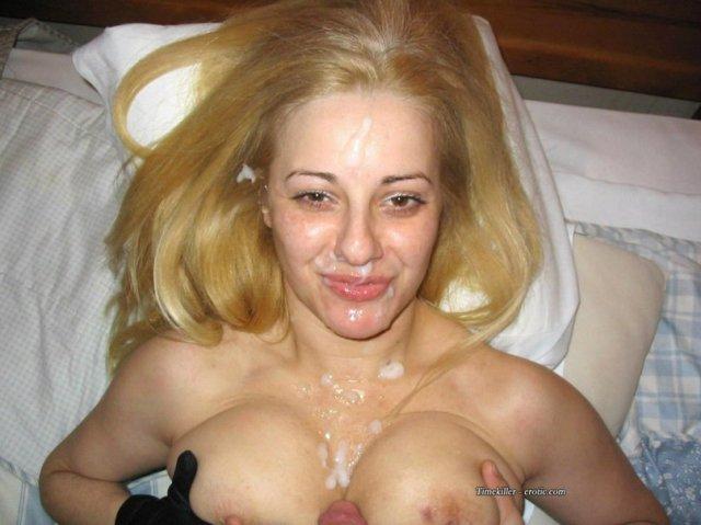 голые фото развратниц со спермой на лице